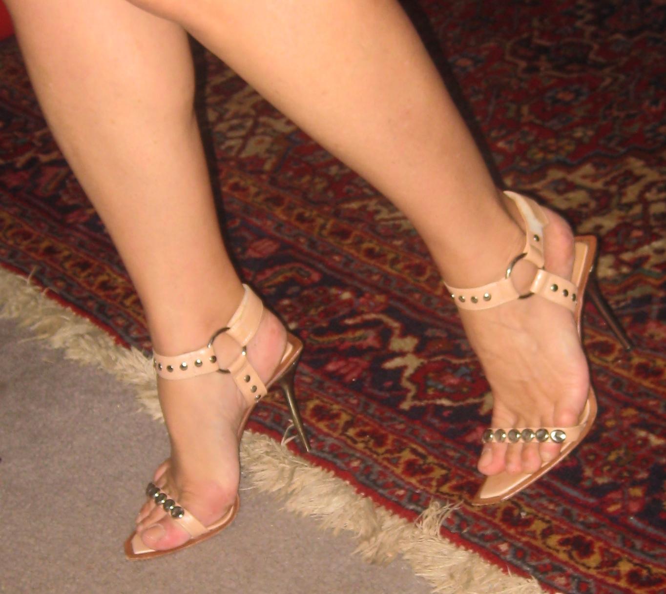 Lick silk stockings high heeled